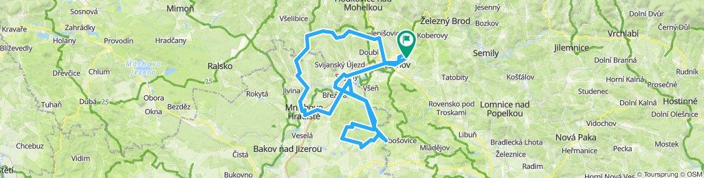 Turnov - Sychrov - Mnichovo Hradiste - Hrad Cost - Svijany - Hrad Cost