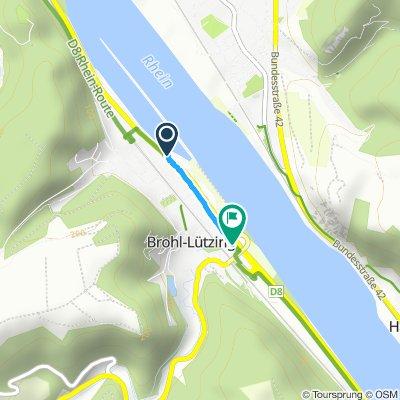Langsame Fahrt in Brohl-Lützing