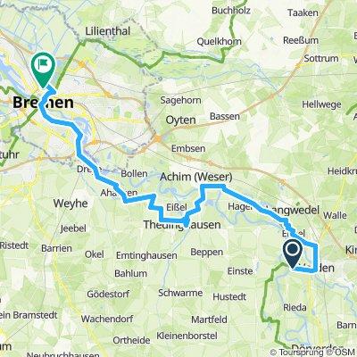 Verden nach Bremen