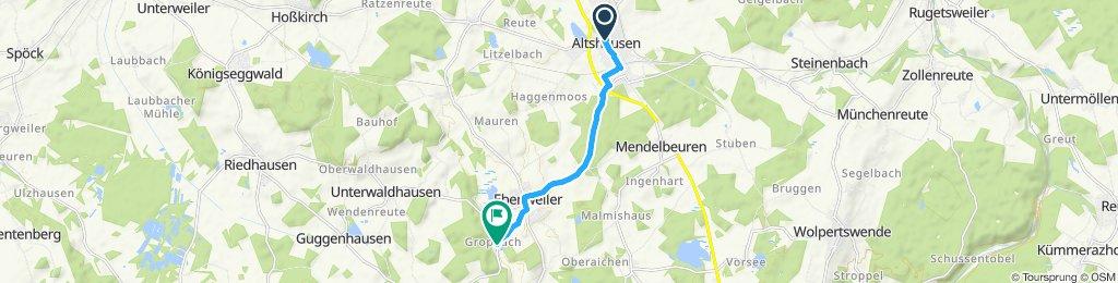 Moderate Route in Ebenweiler