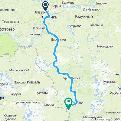 Мещера: Лакинск - Тасино
