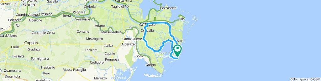 Einfache Fahrt in Porto Tolle