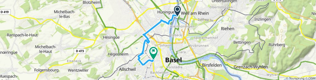 Moderate Route in Basel