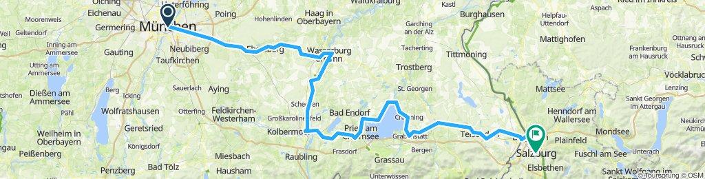 München - Chiemsee - Salzburg 186 km