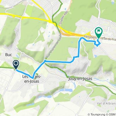 Buc Vélizy par sentier des Metz - 5,6 km - 80 m