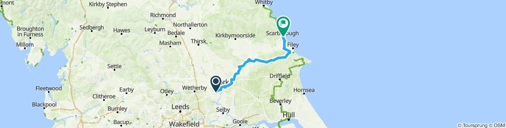 York to Scarborough - Sue's version