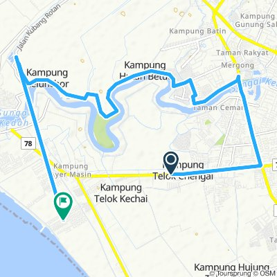 Supersonic route in Bandar Kuala Kedah