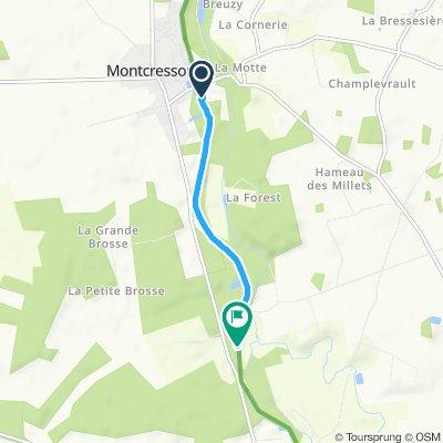 Itinéraire reposant en Montbouy