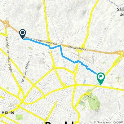 Ruta moderada en Puebla