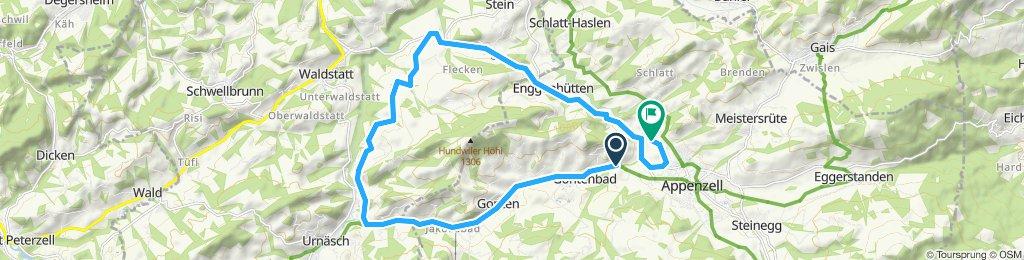 Rota repousante em Appenzell