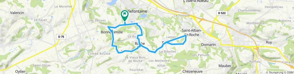 Itinéraire modéré en Villefontaine