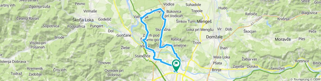 Ljubljana-Smlednik-Skaručna-Gameljne