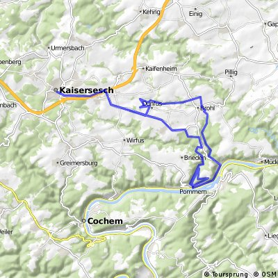 tour mit strammen steigungen und ein paarr single trails