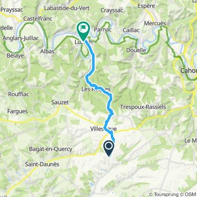 Steady ride in Luzech