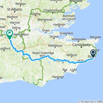 Deel 3 Dover naar Weybridge 06092019