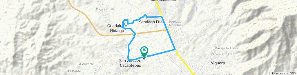 Ruta tranquila en San Lorenzo Cacaotepec
