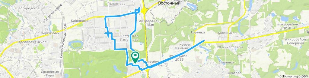 Велокурьерские вылазки пятничные Балашиха-Измайлово-Гольяново осенние теплые 06 09 2019