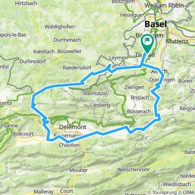 Jura Berge Meltinger Berg-Trogberg-Bourrignon