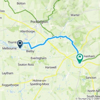 Steady ride in York