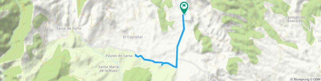 Ruta moderada en Arcusa