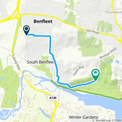Moderate route in Benfleet