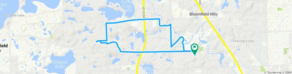 High-speed route in Bloomfield Hills
