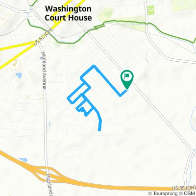 Moderate route in Washington Court House