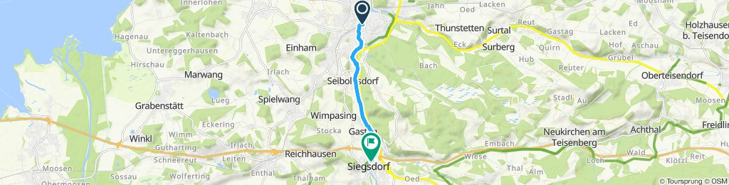 Langsame Fahrt in Siegsdorf