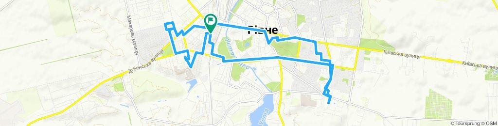 Night ride in Rivne
