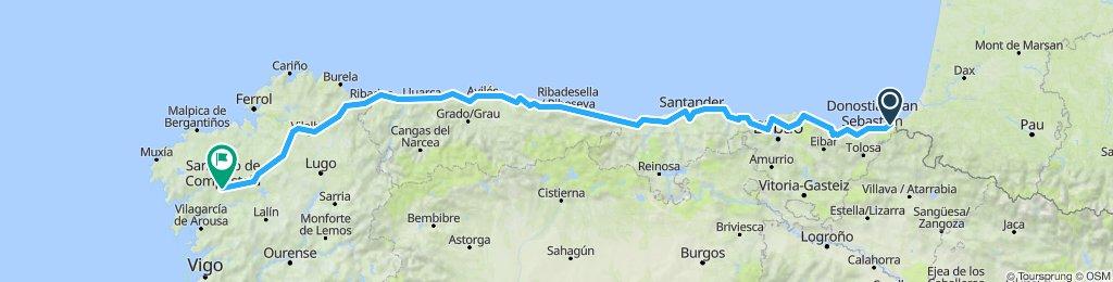 Mavis is Spain test route