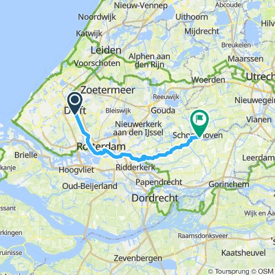 Cycling routes and bike maps in and around Delft | Bikemap ...