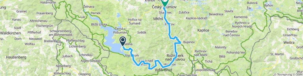 Vom Moldaustausee nach Cesky Crumlov