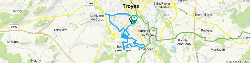 Itinéraire modéré en Troyes.
