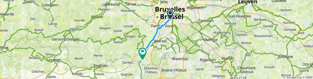Bruxelles halle par le canal