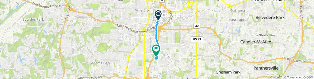 Moderate route in Atlanta