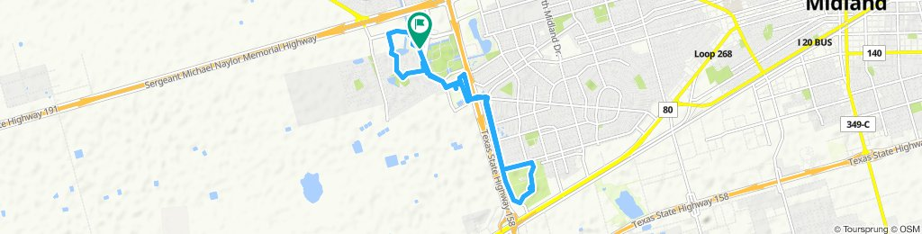 Moderate route in Midland