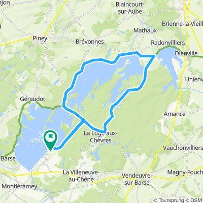 Lac d´Auzon-Temple Rundtour