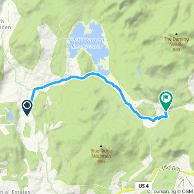 Chittenden, VT, heavy hard up mt trail