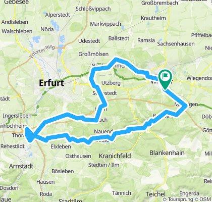 Abwandern zum Schloss Molsdorf
