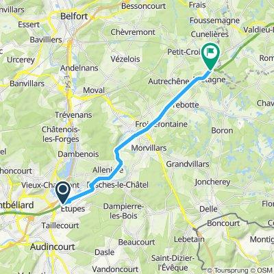 Velo Route Etupes Montreux