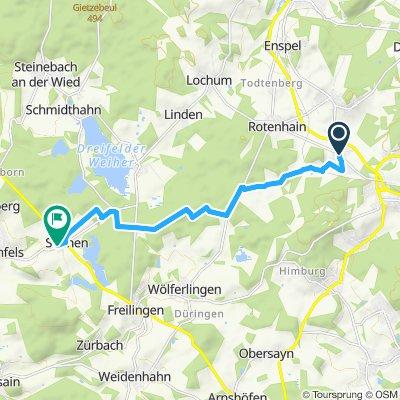 Einfache Fahrt in Hartenfels