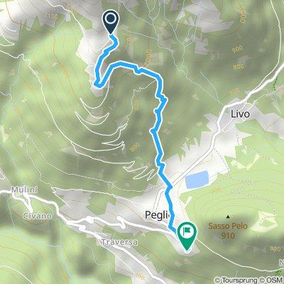Bodone - Peglio via sentiero est