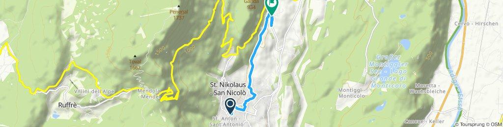 Gemütliche Route in Kaltern an der Weinstrasse
