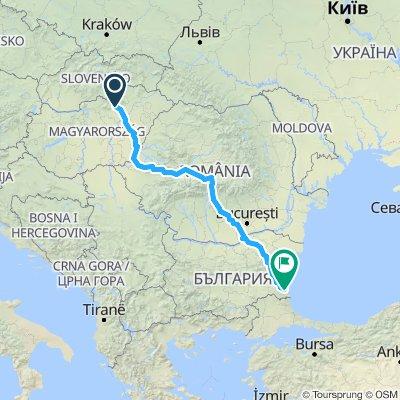 Eger, Hungary - Transfagarasan, Romania - Kiten, Bulgaria