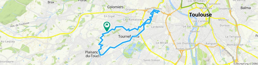 Itinéraire modéré en Tournefeuille