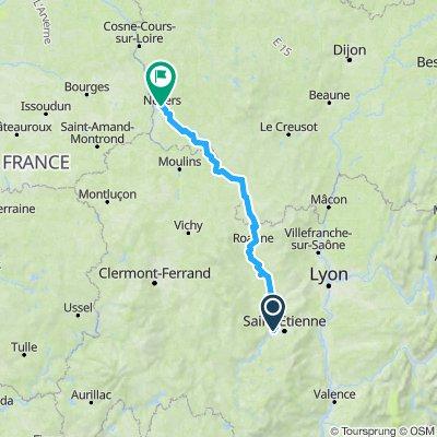 Von der Loire-Quelle bis Nevers