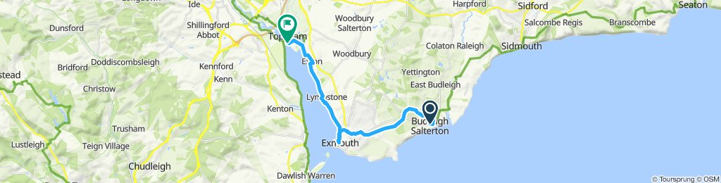 Easy ride in Budleigh Salterton