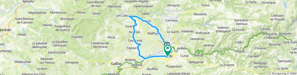 Albi - Cordes (route de campagne)