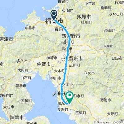 Fukuoka to Tamana campsite
