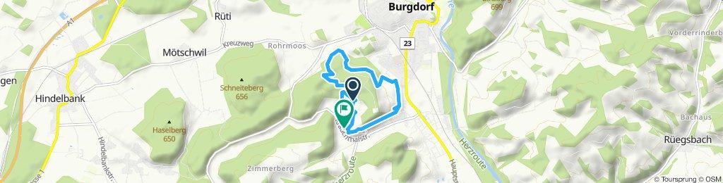 Gerade Fahrt in Oberburg